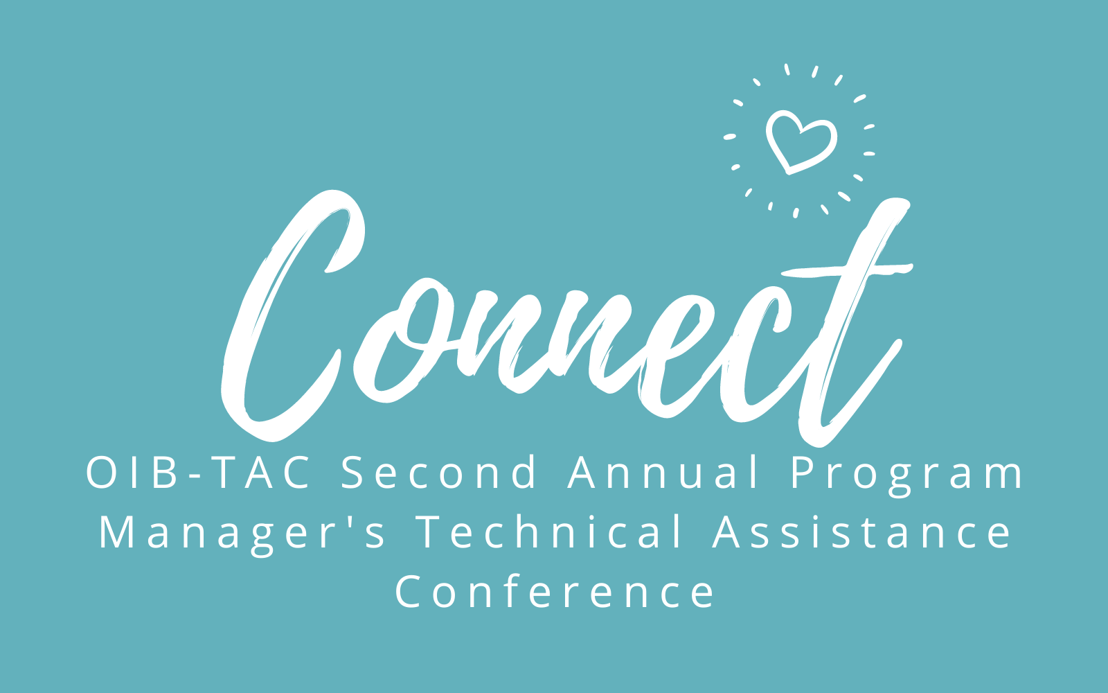 Logo for OIB-TAC Annual Manager's Technical ASsistance Conference
